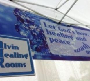 Alvin Healing Room Sign